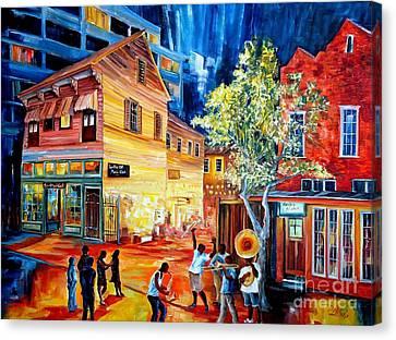 Spots Canvas Print - Frenchmen Street Funk by Diane Millsap