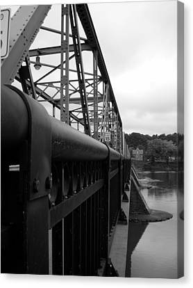Frenchtown Bridge Canvas Print by Amanda Vouglas