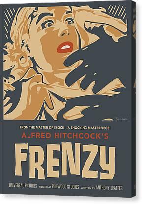 Frenzy - Thriller Noir Canvas Print by Bill ONeil
