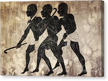 Fresco - Hunters Canvas Print