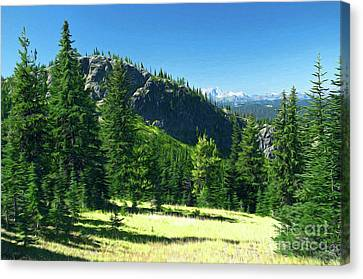 Canvas Print featuring the photograph Fresh Air In The Mountains Photo Art by Sharon Talson