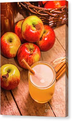 Fresh Apple Juice With Cinnamon Canvas Print