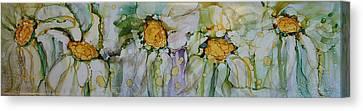 Fresh As A Daisy Canvas Print by Ruth Kamenev