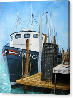 Fresh Catch Fishing Boat Canvas Print