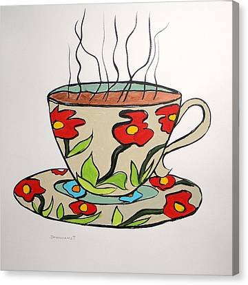 Canvas Print featuring the painting Fresh Cup by John Williams
