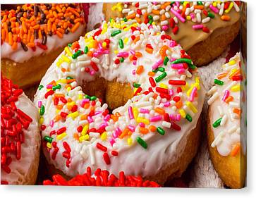 Fresh Donuts Canvas Print by Garry Gay