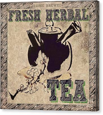 Fresh Herbal Tea Canvas Print