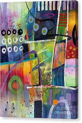 Canvas Print featuring the painting Fresh Jazz by Hailey E Herrera