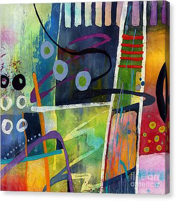 Canvas Print featuring the painting Fresh Jazz In A Square by Hailey E Herrera