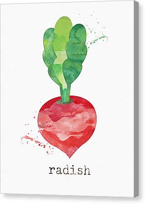 Fresh Radish Canvas Print by Linda Woods