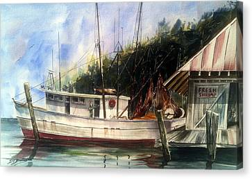 Fresh Shrimp Alabama Canvas Print by Don F  Bradford
