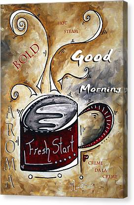 Fresh Start By Madart Canvas Print by Megan Duncanson