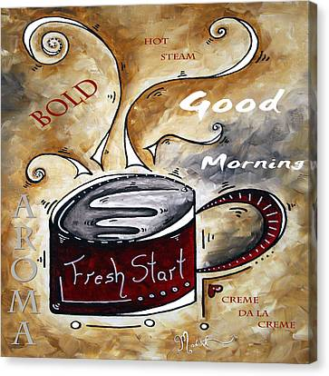 Fresh Start Original Painting Madart Canvas Print by Megan Duncanson