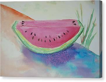 Fresh Watermelon Canvas Print by Aldonia Bailey