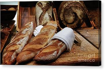 Freshly Baked Bread By Kaye Menner Canvas Print