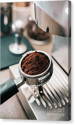 Coffee Shop Canvas Print - Freshly Ground Coffee by Viktor Pravdica