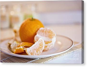 Canvas Print featuring the photograph Freshly Peeled Citrus by Cindy Garber Iverson
