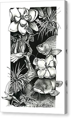 Freshwater Collage Canvas Print by Jacqueline Endlich