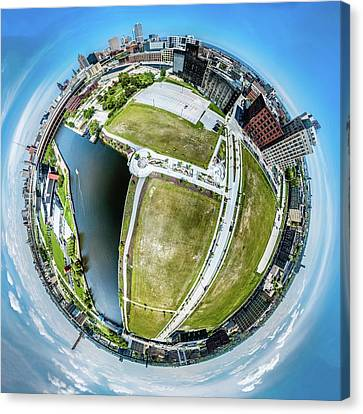 Canvas Print featuring the photograph Freshwater Way Little Planet by Randy Scherkenbach