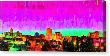 Fresno Skyline 103 - Da Canvas Print by Leonardo Digenio