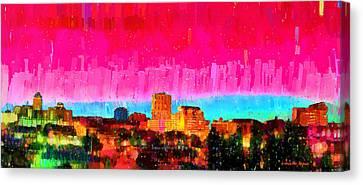 Fresno Skyline 104 - Pa Canvas Print by Leonardo Digenio