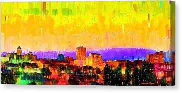 Fresno Skyline 106 - Da Canvas Print by Leonardo Digenio