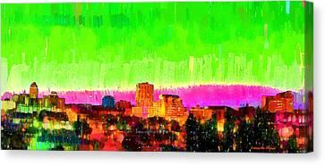 Fresno Skyline 107 - Da Canvas Print by Leonardo Digenio