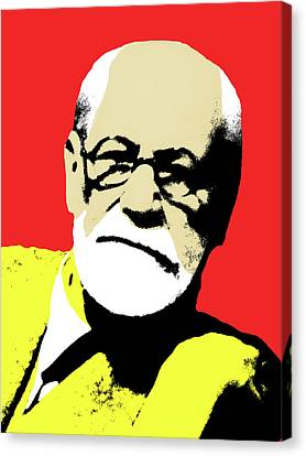 Freud Canvas Print - Freud Pop Art by Hudson Melo