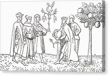 Agnus Canvas Print - Friar Oderic Of Pordenone Holding by Vintage Design Pics