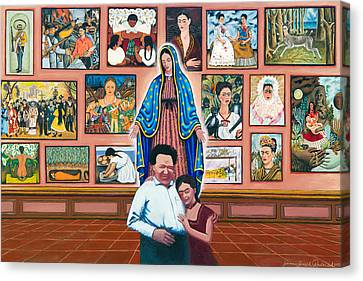 Frida And Diego Canvas Print by James Roderick