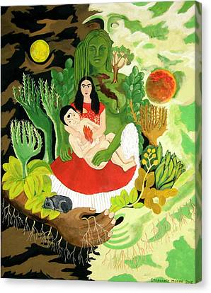 Frida And Diego Canvas Print by Stephanie Moore
