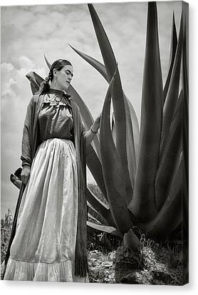 Vintage Painter Canvas Print - Frida Kahlo 1937 by Carlos Lazurtegui