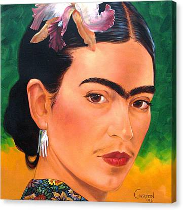Frida Kahlo 2003 Canvas Print by Jerrold Carton