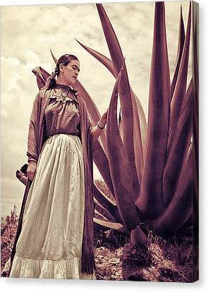 Frida Kahlo Canvas Print by Carlos Lazurtegui