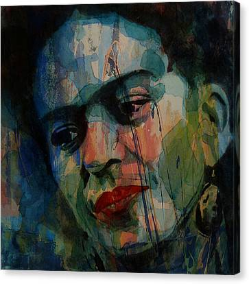 Frida Kahlo Colourful Icon  Canvas Print by Paul Lovering