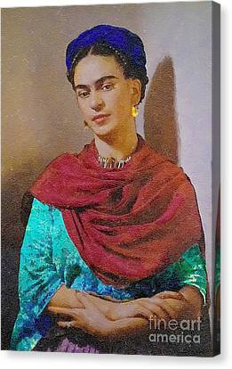 Frida Kahlo Canvas Print by John  Kolenberg