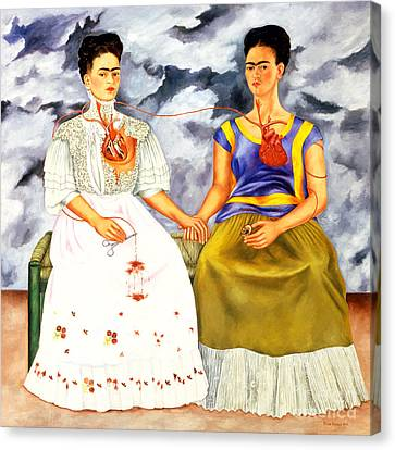 Frida Kahlo The Two Fridas Canvas Print by Pg Reproductions