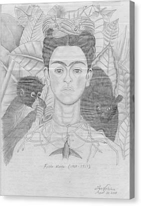Frida Khalo Canvas Print by M Valeriano