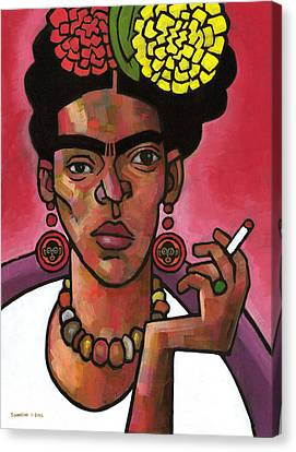 Frida Listening Canvas Print