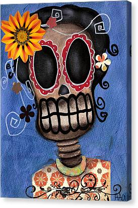 Frida Muerta Canvas Print by  Abril Andrade Griffith