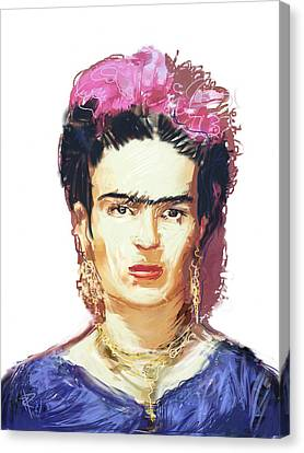 Painter Canvas Print - Frida by Russell Pierce