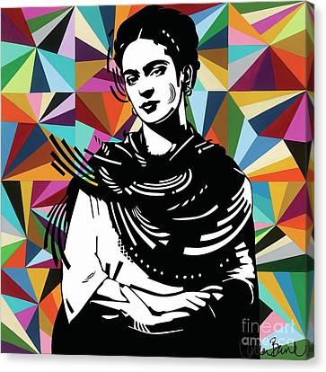 Frida Stay True Canvas Print by Carla Bank