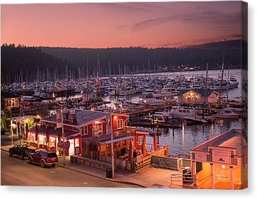 Friday Harbor Good Evening Canvas Print