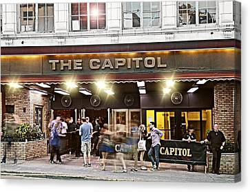 The Bowery Canvas Print - Friday Night At The Cap by Diana Angstadt