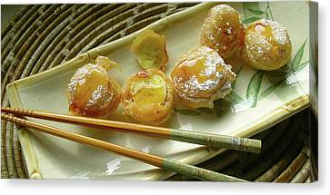 Canvas Print - Fried Apple Banana Fritters by James Temple
