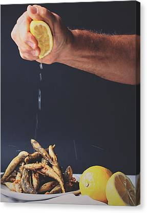 Kitchen Wall Canvas Print - Fried Fish by Happy Home Artistry