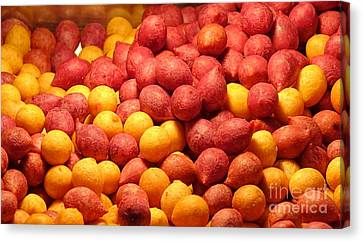Canvas Print featuring the photograph Fried Sweet Potato Balls by Yali Shi