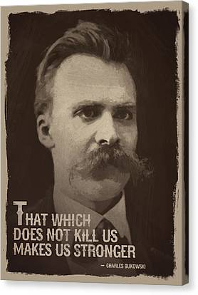 Friedrich Nietzsche Quote Canvas Print by Afterdarkness