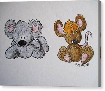 Koala Canvas Print - Friends 2 by Megan Walsh