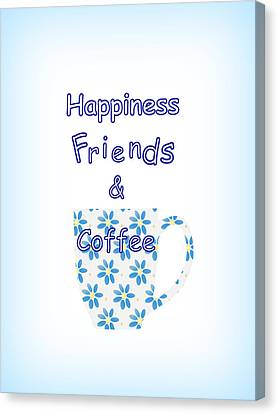 Friends And Coffee Canvas Print by Kathleen Sartoris